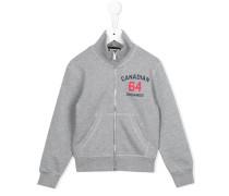 "Sweatshirtjacke mit ""Canadian 64""-Print"