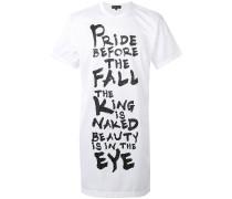 Langes T-Shirt mit Slogan-Print