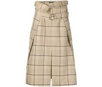paperbag-waist check skirt