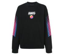 retro slogan print sweatshirt