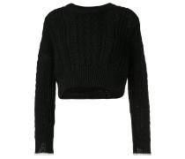stretch cable knit jumper