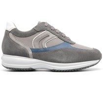 panelled low top sneakers
