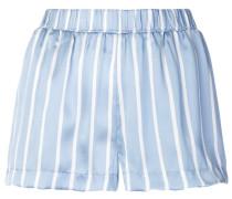 Gestreifte Pyjama-Seidenshorts