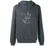 embroidered crown hoodie