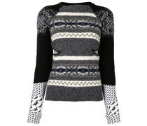 panelled knitted top