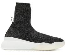 Sock-Sneakers im Metallic-Look