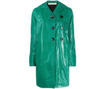 Mantel mit Kroko-Effekt