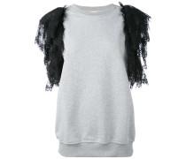 - Sweatshirt mit Spitzenärmeln - women