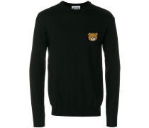 bear embellished crew neck sweater