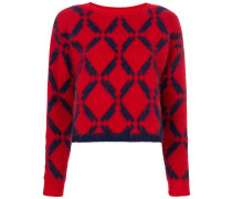 Argyle knit jumper