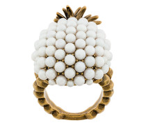 faux pearl embellished pineapple ring
