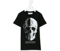 - T-Shirt mit Totenkopf-Print - kids - Baumwolle