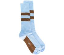 Socken mit Streifen - women - Seide/Nylon - S