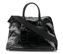 crinkled leather holdall