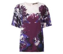 T-Shirt mit floralem Print aus Seide