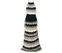 lace trim tiered dress