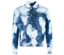 Jeansjacke mit Farbeffekt
