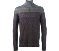 Gestreifter Pullover mit Reißverschluss