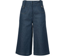Kurze Jeans-Culottes - women