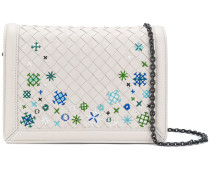 embroidered Intrecciato shoulder bag