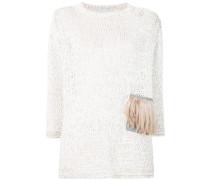 Pullover mit Federbesatz
