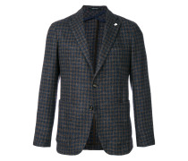 patterned single breasted blazer