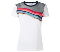 T-Shirt mit Kontrasteinsatz - women