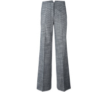 plaid wide-legged tailored trousers