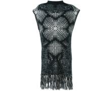 frayed knit vest
