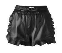 Leder-Shorts mit Tunnelzug