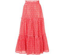 ruffled tiered skirt