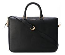 - gold-tone zip briefcase - men - Kalbsleder
