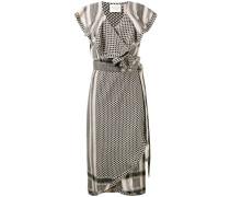 'Keffiyeh' Kleid mit gerüschten Akzenten