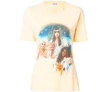 T-Shirt mit Airbrush-Print