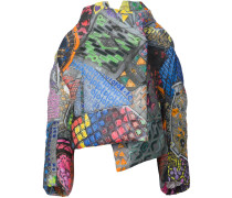 Oversized-Mantel mit abstraktem Print