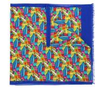 Schal mit Surfbrett-Print