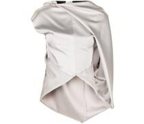 Asymmetrisch drapierte Bluse