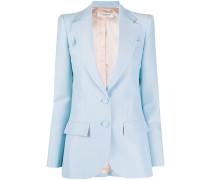 single-breasted flap pocket blazer