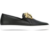 Slip-On-Sneakers mit Medusa-Applikation