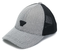 houndstooth and mesh cap