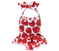 Badeanzug mit Erdbeer-Print - kids