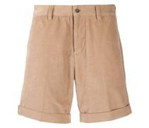 Cord-Shorts mit Umschlag