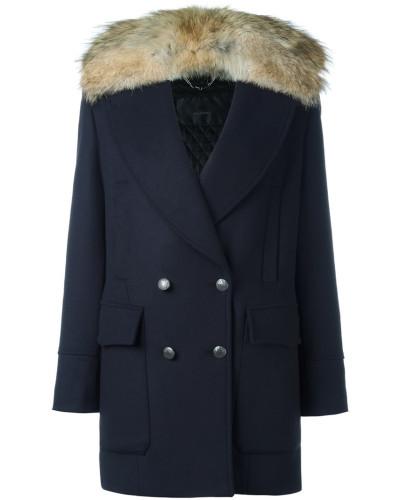 belstaff damen mantel mit pelzkragen reduziert. Black Bedroom Furniture Sets. Home Design Ideas