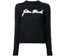 Intarsien-Pullover mit Rundhalsausschnitt