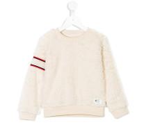 Sweatshirt mit Fuchspelzbesatz