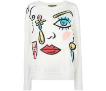 Pullover mit Gesichts-Motiv - women