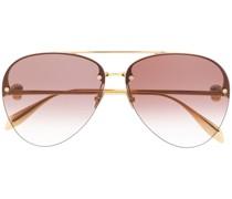 aviator skull motif sunglasses