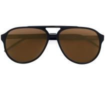 Sonnenbrille mit gestreiften Kanten