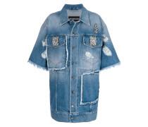 embellished oversized denim jacket