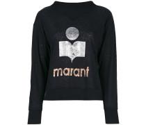 Sweatshirt mit Metallic-Logo